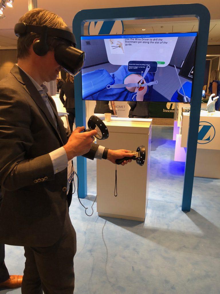 Testen van nieuwe Virtual Reality toepassingen op de Paris Shoulder Course